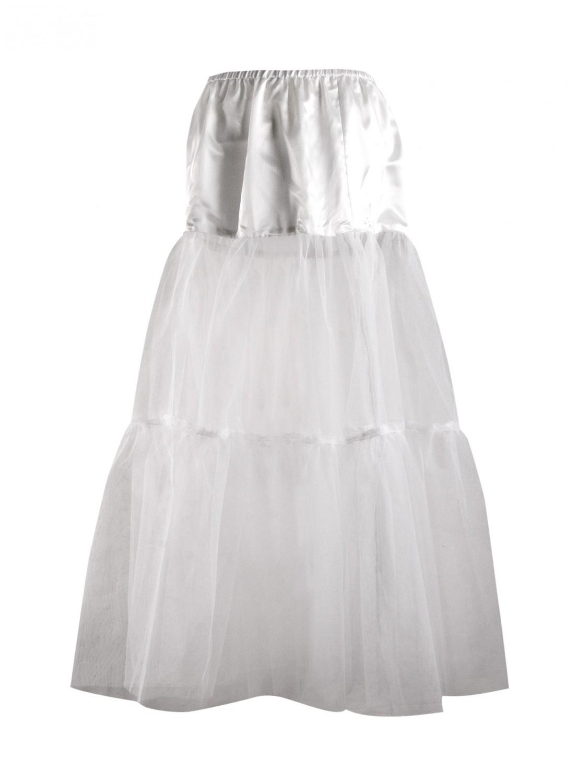 Damen Unterrock Petticoat lang weiss ca. 85 cm  eBay