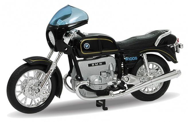 Details zu welly modell motorrad 1 18 bmw r100 s schwarz 4 3 neu und